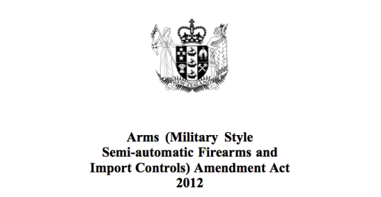 Arms Act 2012